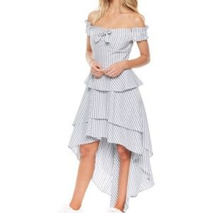 """Southern Belle"" style hi low dress"